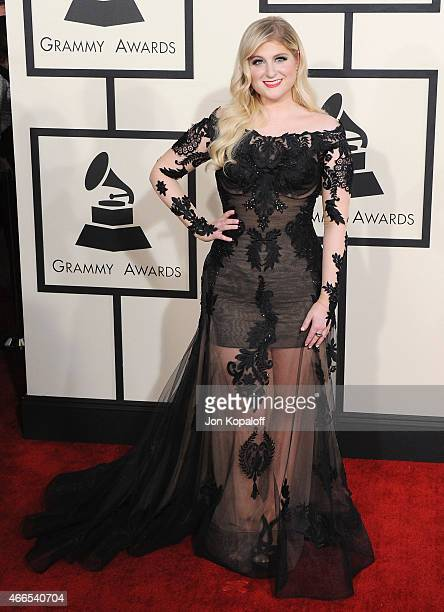 Singer Meghan Trainor arrives at the 57th GRAMMY Awards at Staples Center on February 8 2015 in Los Angeles California