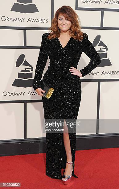 Singer Meghan Trainor arrives at The 58th GRAMMY Awards at Staples Center on February 15 2016 in Los Angeles California