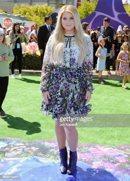 Singer Meghan Trainor arrives at the Los Angeles Premiere 'Smurfs The Lost Village' at ArcLight Cinemas on April 1 2017 in Culver City California