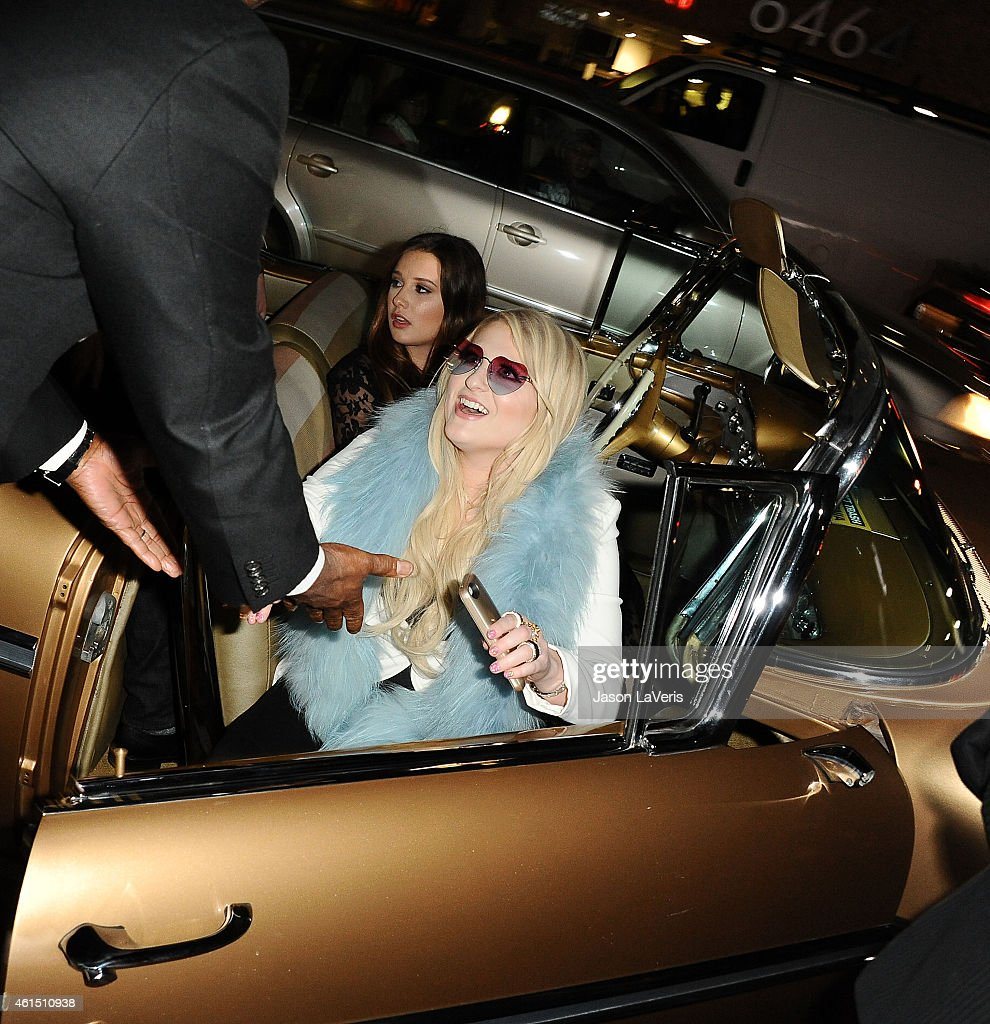 Singer Meghan Trainor arrives at the record release party for her debut album 'Title' at Warwick on January 13, 2015 in Hollywood, California.