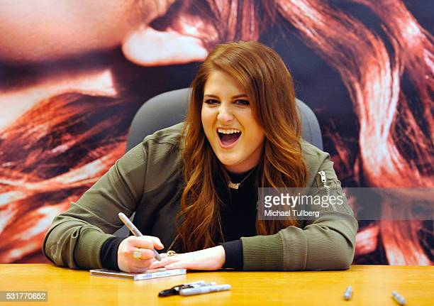 Singer Meghan Trainor attends a signing for her CD 'Thank You' at Barnes Noble at The Grove on May 16 2016 in Los Angeles California
