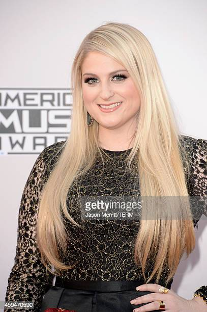 Singer Meghan Trainor attends the 2014 American Music Awards at Nokia Theatre LA Live on November 23 2014 in Los Angeles California