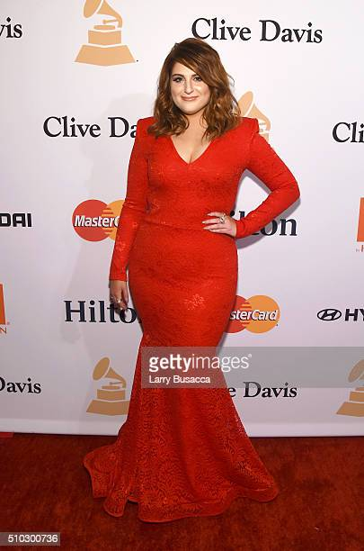 Singer Meghan Trainor attends the 2016 PreGRAMMY Gala and Salute to Industry Icons honoring Irving Azoff at The Beverly Hilton Hotel on February 14...
