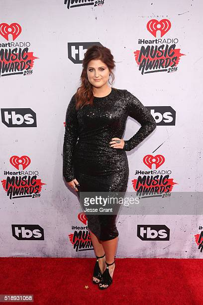 Singer Meghan Trainor attends the iHeartRadio Music Awards at The Forum on April 3 2016 in Inglewood California