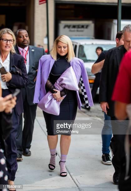 Singer Meghan Trainor is seen outside Christian Cowan during New York Fashion Week September 2019 on September 10 2019 in New York City