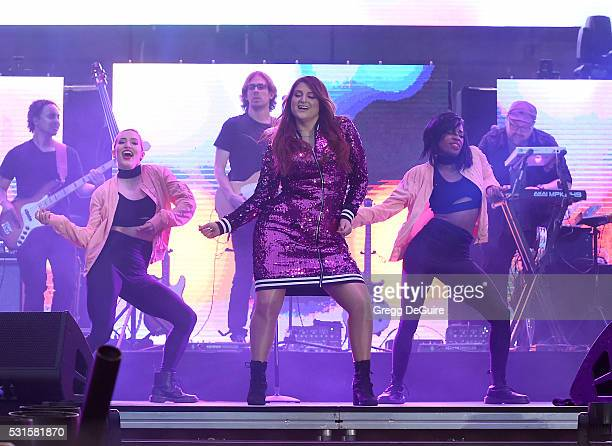 Singer Meghan Trainor performs at 1027 KIIS FM's Wango Tango 2016 at StubHub Center on May 14 2016 in Carson California