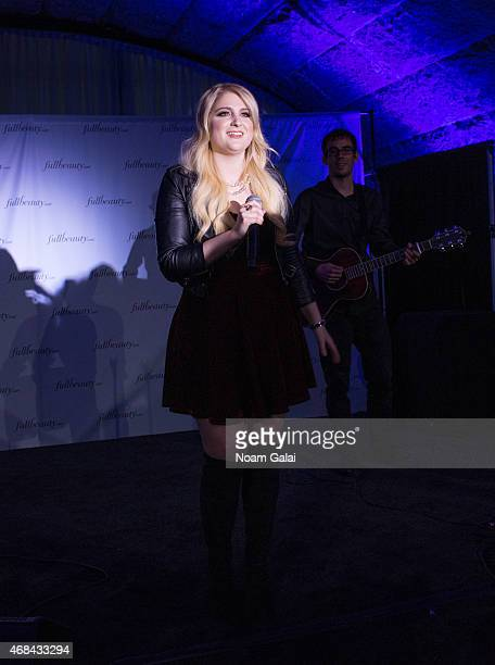 Singer Meghan Trainor performs at the FULLBEAUTY Brands Launch event at Gustavino's on April 2 2015 in New York City