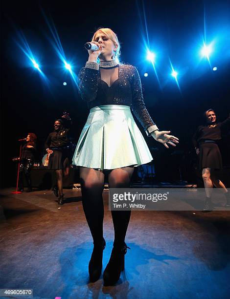 Singer Meghan Trainor performs at the O2 Shepherd's Bush Empire on April 13 2015 in London England