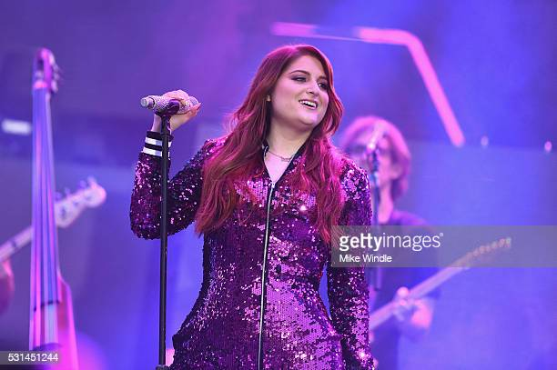 Singer Meghan Trainor performs on stage at KIIS FM's Wango Tango 2016 at StubHub Center on May 14 2016 in Carson California