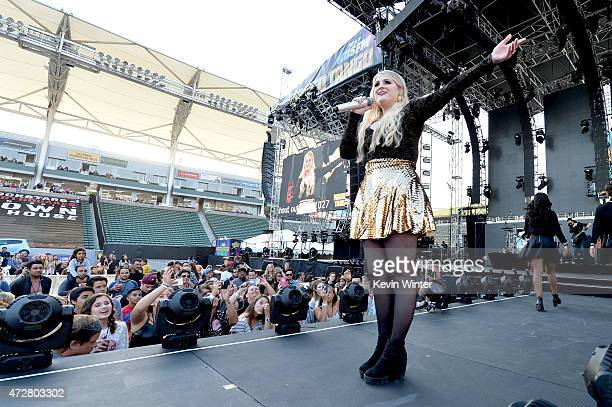 Singer Meghan Trainor performs onstage during 1027 KIIS FM's 2015 Wango Tango at StubHub Center on May 9 2015 in Los Angeles California