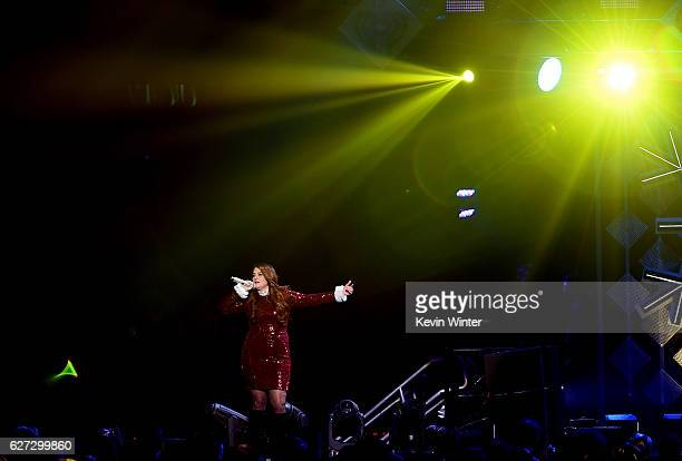 Singer Meghan Trainor performs onstage during 102.7 KIIS FM's Jingle Ball 2016 presented by Capital One at Staples Center on December 2, 2016 in Los...
