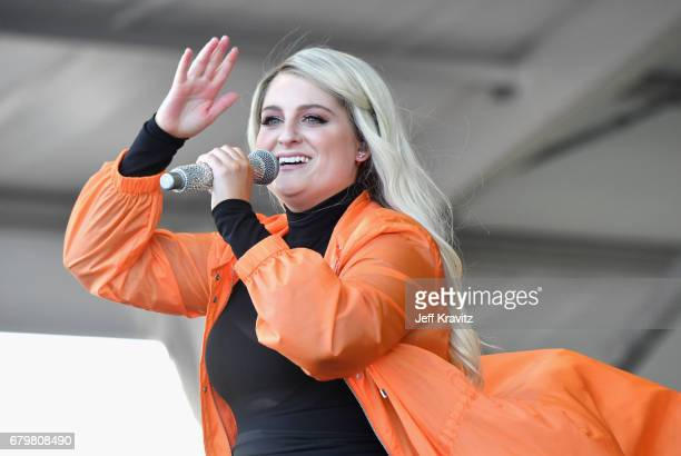 Singer Meghan Trainor performs onstage during the 2017 New Orleans Jazz Heritage Festival Day 6 at Fair Grounds Race Course on May 6 2017 in New...
