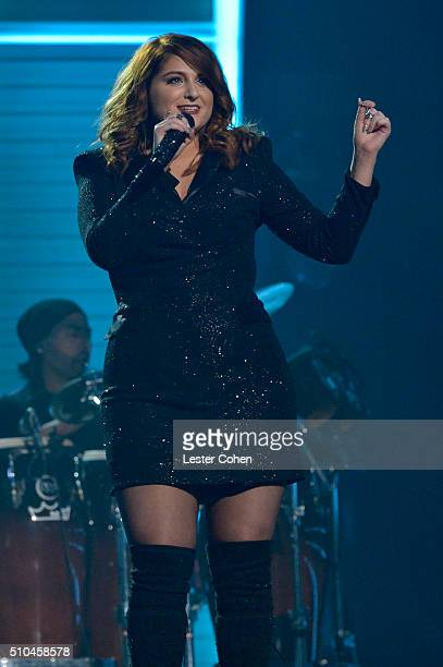 Singer Meghan Trainor performs onstage during The 58th GRAMMY Awards at Staples Center on February 15 2016 in Los Angeles California