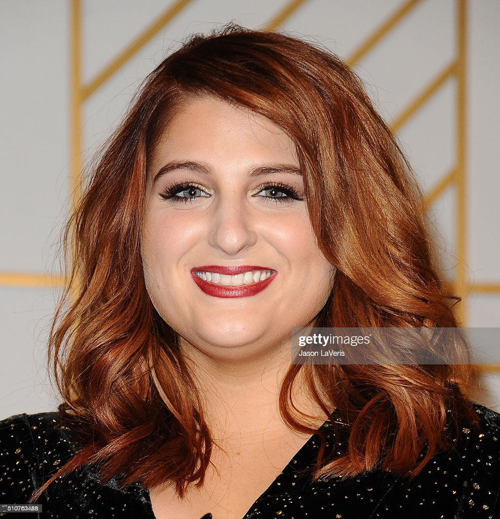 Singer Meghan Trainor poses in the press room at the The 58th GRAMMY Awards at Staples Center on February 15, 2016 in Los Angeles, California.