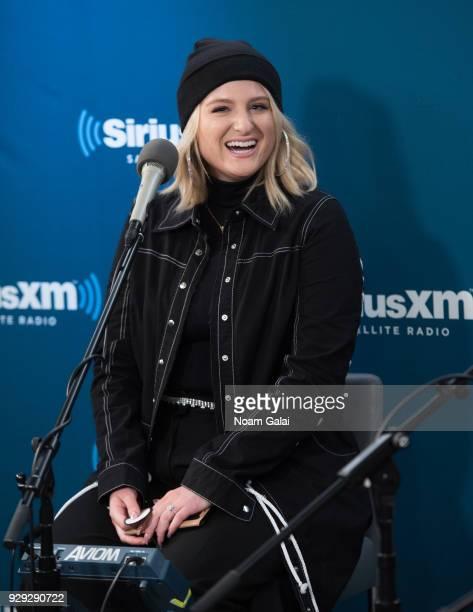 Singer Meghan Trainor visits SiriusXM 'Hits 1' at SiriusXM Studios on March 8 2018 in New York City