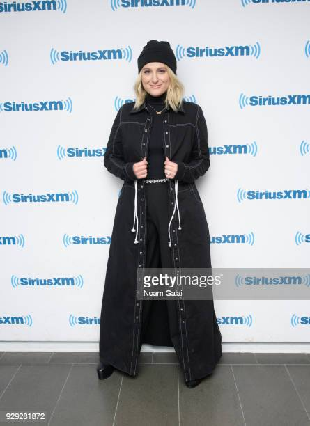 Singer Meghan Trainor visits the SiriusXM Studios on March 8 2018 in New York City