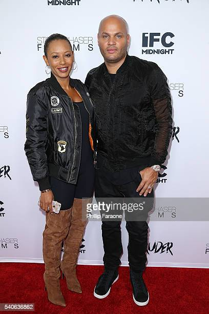 Singer Mel B and husband Stephen Belafonte attend the premiere of IFC Midnight's 'Intruder' at Regency Bruin Theater on June 15 2016 in Westwood...