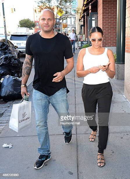 Singer Mel B and Stephen Belafonte are seen walking in Soho on September 14 2015 in New York City