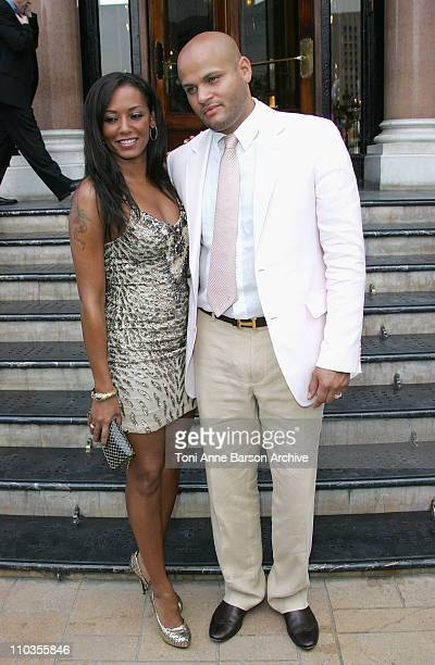 Singer Mel B and Stephen Belafonte outside the Hotel de Paris on June 11 in Monte Carlo Principality of Monaco
