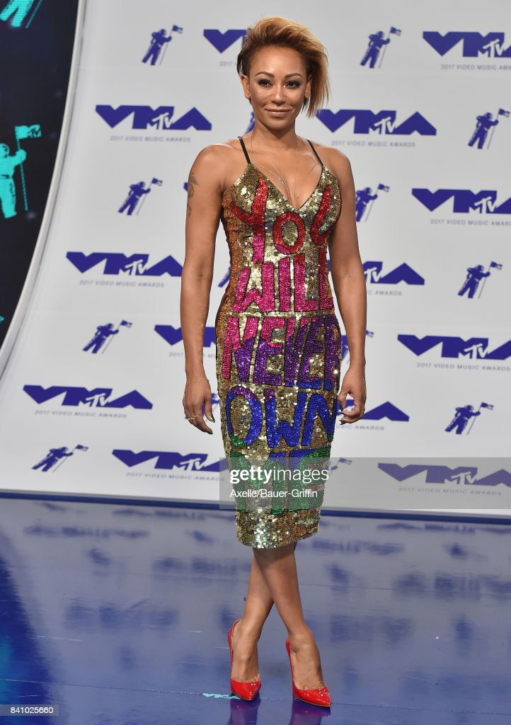 Singer Mel B arrives at the 2017 MTV Video Music Awards at The Forum on August 27, 2017 in Inglewood, California.