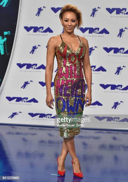 Singer Mel B arrives at the 2017 MTV Video Music Awards at The Forum on August 27 2017 in Inglewood California