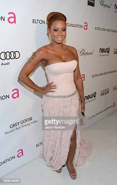 Singer Mel B attends the 21st Annual Elton John AIDS Foundation Academy Awards Viewing Party at West Hollywood Park on February 24 2013 in West...