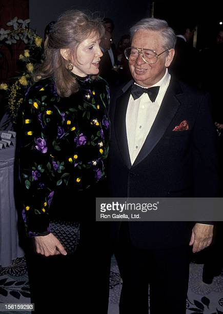 Singer Mel Torme and wife Ali Severson attend 50th Anniversary Party for Charlton HestonLydia Heston on March 18 1994 at Nikko Hotel in Beverly Hills...