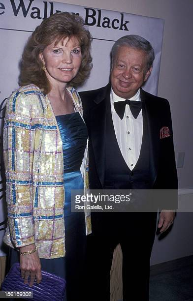 Singer Mel Torme and wife Ali Severson attend the birthday party for Ella Fitzgerald on April 28 1989 at the Beverly Hilton Hotel in Beverly Hills...