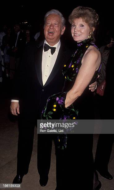 Singer Mel Torme and wife Ali Severson attend Third Annual Society Of Singers Lifetime Achievement Awards Honoring Ella Fitzgerald on October 23 1992...