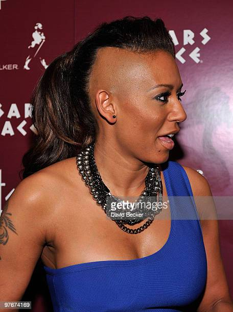 Singer Melanie Brown arrives at the grand opening of Matt Goss Live from Caesars Palace March 12 2010 in Las Vegas Nevada