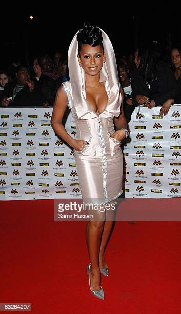 Singer Melanie Brown arrives at the MOBO Awards 2008 held at Wembley Arena on October 15 2008 in London England