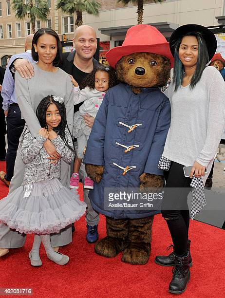 Singer Melanie Brown husband Stephen Belafonte with daughters Madison Brown Belafonte Phoenix Chi Gulzar Brown and Angel Iris Murphy Brown arrive at...