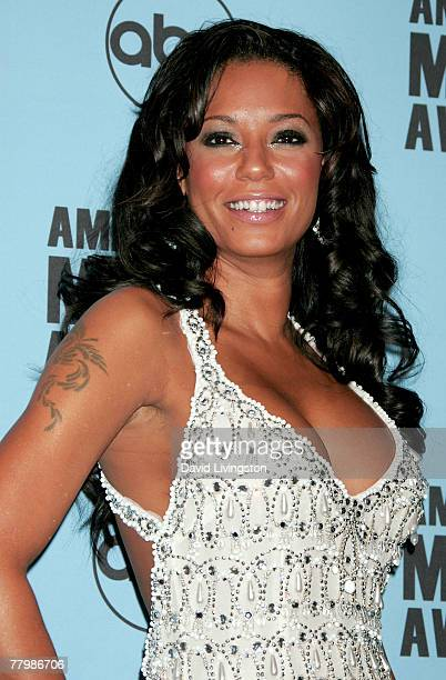 Singer Melanie Brown poses in the press room at the 2007 American Music Awards held at the Nokia Theatre LA LIVE on November 18 2007 in Los Angeles...