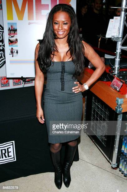 Singer Melanie Brown Signs Copies of Her New Fitness Video at Virgin Megastore on February 3 2009 in New York City
