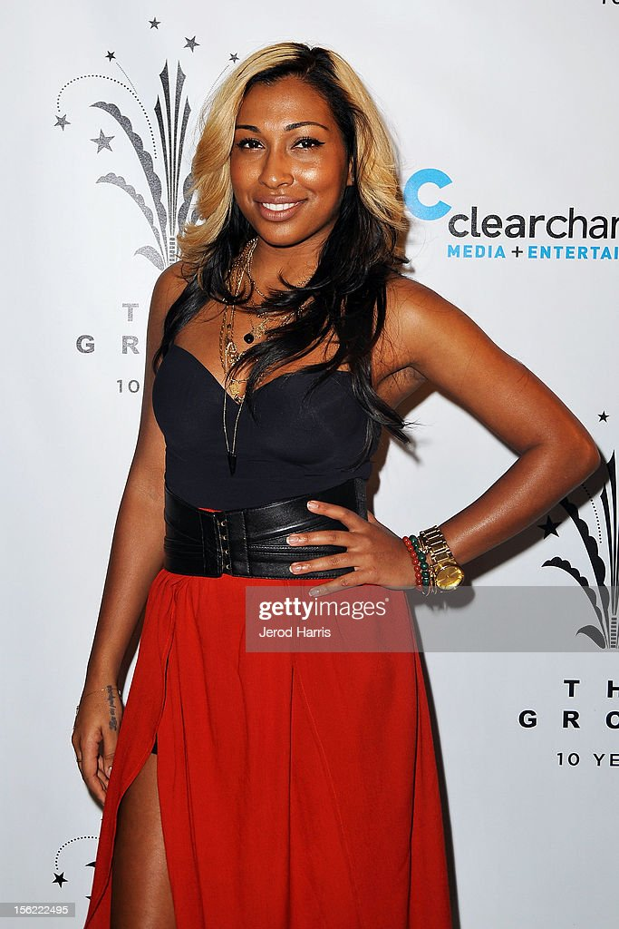 Singer Melanie Fiona arrives at A Hollywood Christmas Celebration at The Grove on November 11, 2012 in Los Angeles, California.