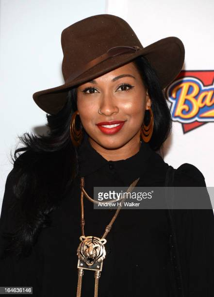 Singer Melanie Fiona attends the 42 event honoring Jackie Robinson at the Brooklyn Academy of Music on March 25 2013 in New York City
