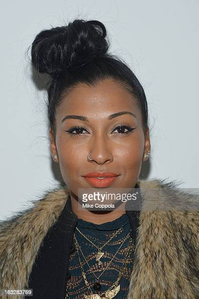 Singer Melanie Fiona attends The Armory Party at MOMA on March 6 2013 in New York City