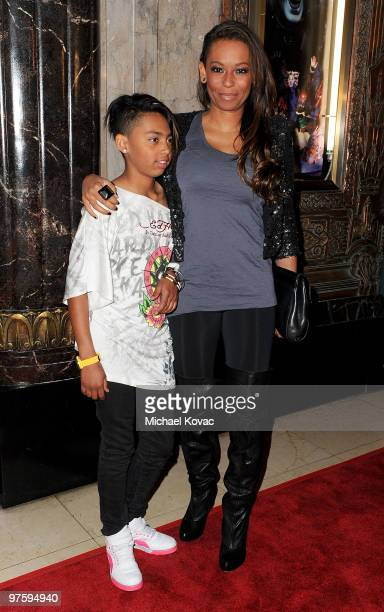 Singer Melanie Janine 'Mel B' Brown arrives with daughter Phoenix Chi Gulzar at the opening night of 'CATS' at the Pantages Theatre on March 9 2010...