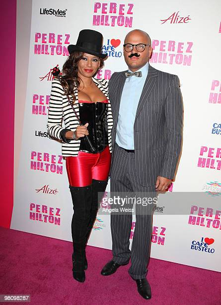 Singer Melanie 'Mel B' Brown and Stephen Belafonte attend Perez Hilton's 'CarnEvil' 32nd birthday party at Paramount Studios on March 27 2010 in Los...