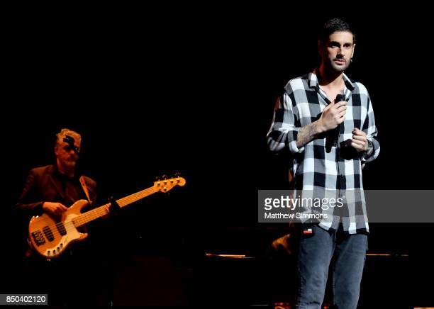 Singer Melendi performs onstage at the Latin GRAMMY Acoustic Session with Camila and Melendi at The Novo by Microsoft on September 20 2017 in Los...