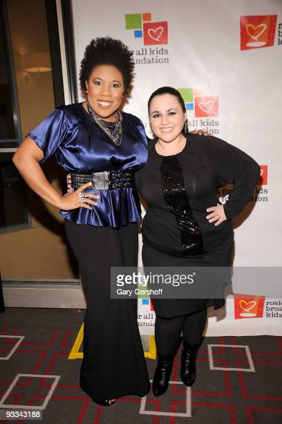 Singer Melinda Doolittle and actress Nikki Blonsky attend Rosie's Broadway Extravaganza at the Palace Theatre on November 23 2009 in New York City