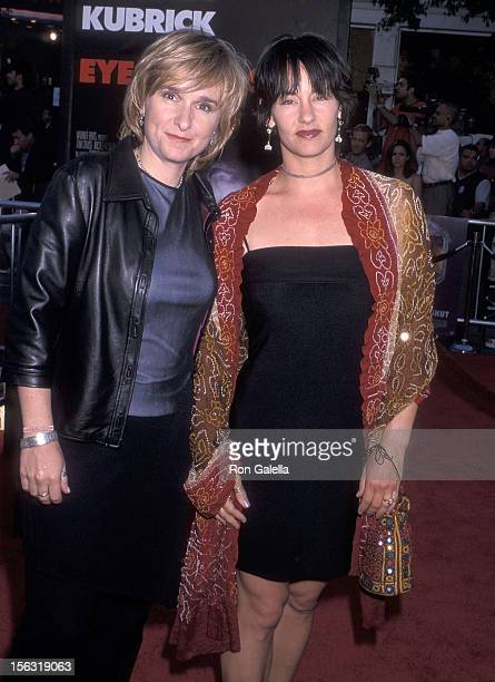 Singer Melissa Etheridge and girlfriend Julie Cypher attend the Eyes Wide Shut Westwood Premiere on July 13 1999 at the Mann Village Theatre in...