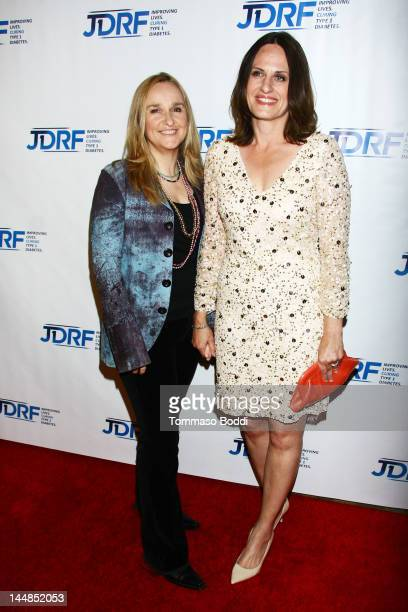 Singer Melissa Etheridge and Linda Wallem attend the JDRF's 9th annual gala 'Finding A Cure The Love Story Gala' held at the Hyatt Regency Century...