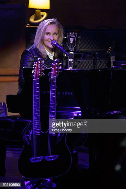Singer Melissa Etheridge performs at ATT AUDIENCE Network concert series at Red Studios on April 26 2016 in Los Angeles California