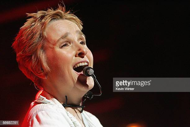Singer Melissa Etheridge performs at Star 987's Lounge for Life Concert at the House of Blues on October 15 2005 in West Hollywood California