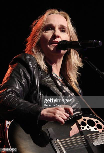 Singer Melissa Etheridge performs at the Concert For Social Justice at The Fonda Theatre on April 8 2015 in Los Angeles California