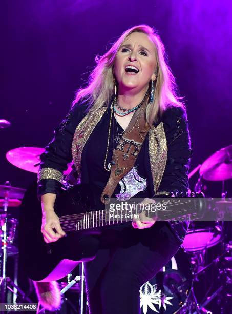 Singer Melissa Etheridge performs in concert during An Evening With Melissa Etheridge 'Yes I Am 25th Anniversary Tour' at Atlanta Botanical Garden...