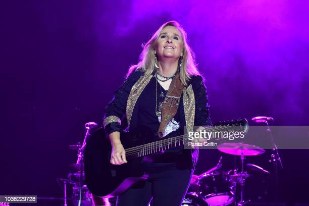 Singer Melissa Etheridge performs in concert during An Evening With Melissa Etheridge Yes I Am 25th Anniversary Tour at Atlanta Botanical Garden...