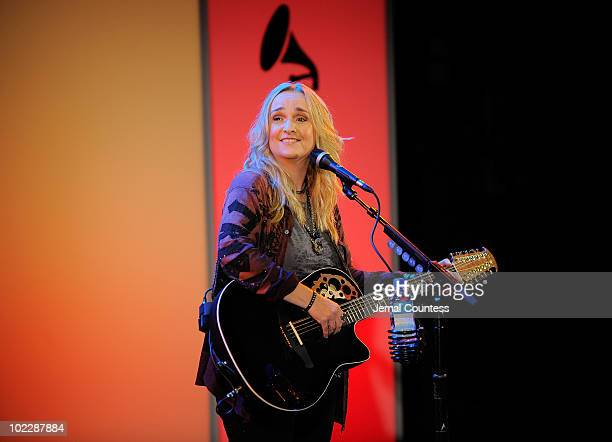 Singer Melissa Etheridge performs in concert during The Recording Academy's GRAMMY Artists Revealed with Melissa Etheridge at Hard Rock Cafe Times...