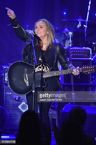 Singer Melissa Etheridge performs onstage during the 2016 PreGRAMMY Gala and Salute to Industry Icons honoring Irving Azoff at The Beverly Hilton...